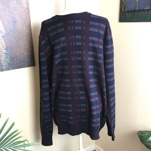 Perry Ellis Sweaters - Perry Ellis men's royal black and cherry sweater